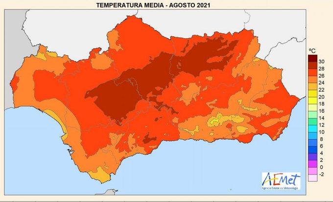 La anomalía climática de agosto confirma la tendencia: Huelva se hace más árida y hostil